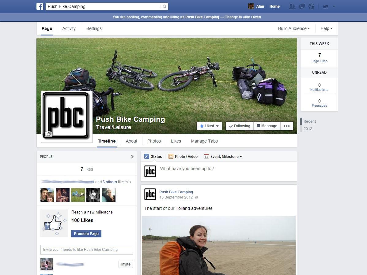 Push Bike Camping Facebook