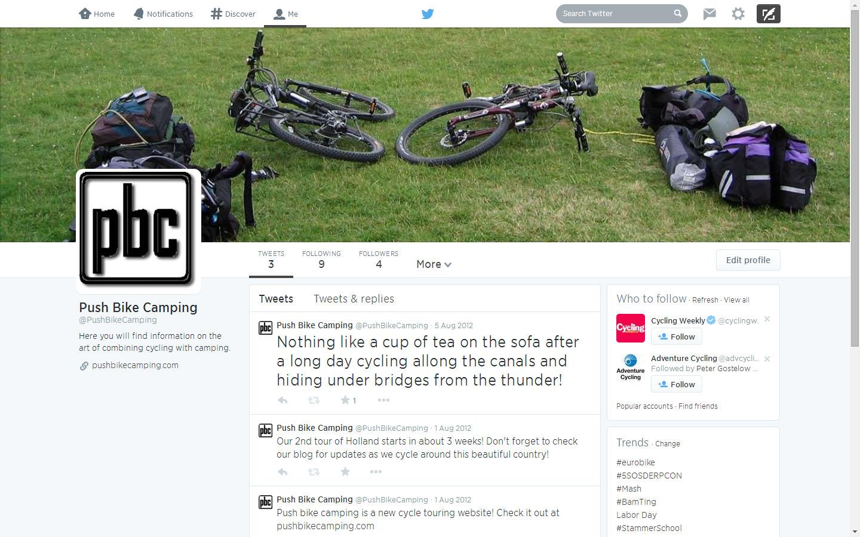 Push Bike Camping Twitter