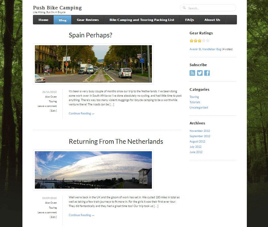 Push Bike Camping Blog
